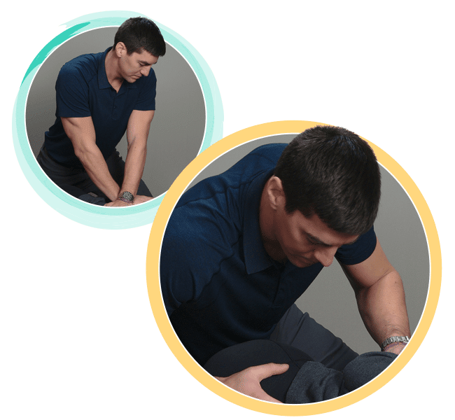 Chiropractor Marc Gusse Waterford Township MI Adjusting Patient